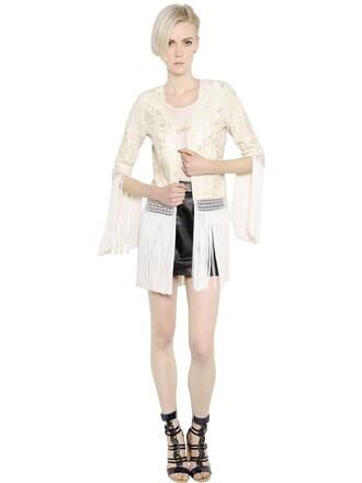 jacket embroidered silk beige