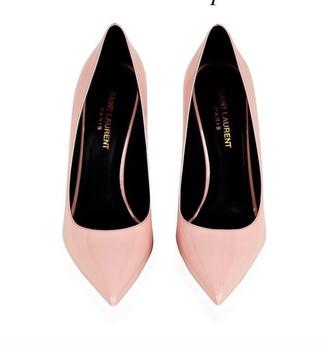 shoes high heels pumps baby pink saint laurent