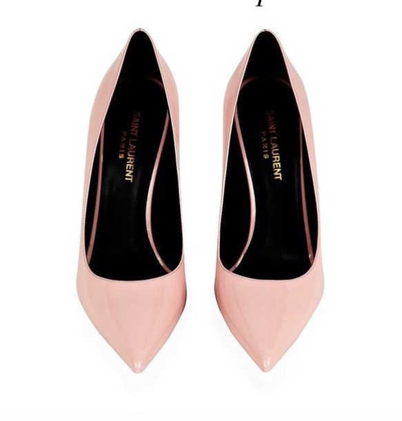 dd9b9c4df5a0 shoes high heels pumps baby pink saint laurent