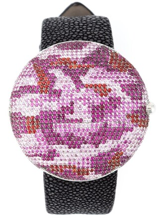 camouflage watch pattern purple pink jewels