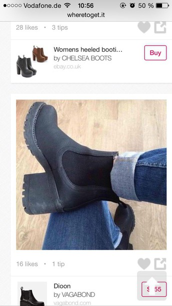 shoes black black heels plateau shoes plateau boots