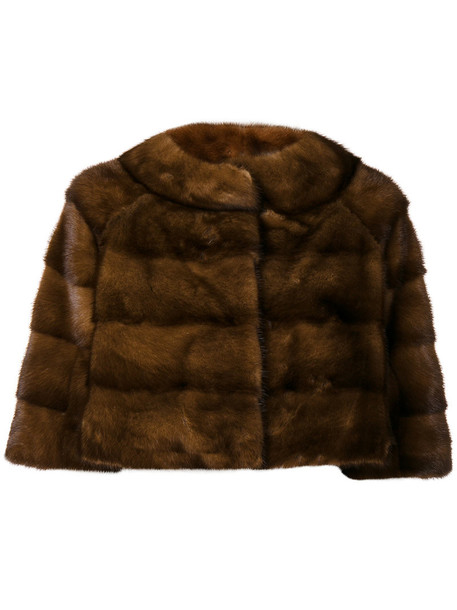 Liska jacket fur fox women brown