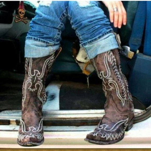 shoes western boots cowgirl boots cowgirl distressed eagle