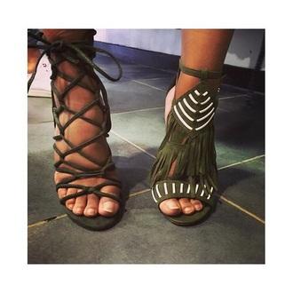 shoes heels green girl girly