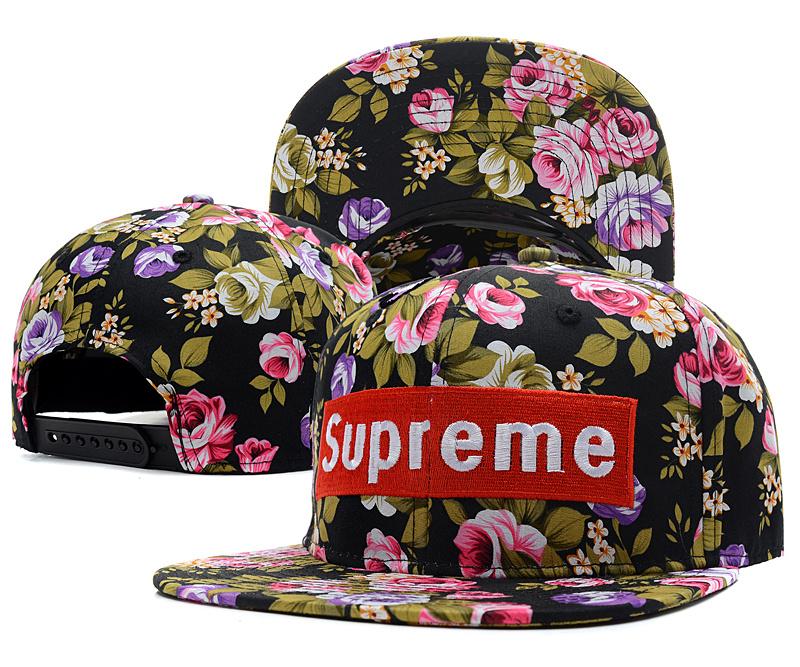 Supreme Snapback Cap Floral Black 8945843c287