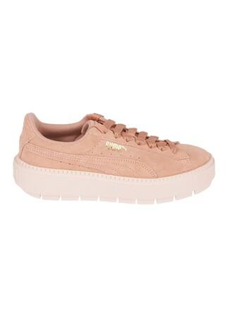classic sneakers platform sneakers beige peach shoes