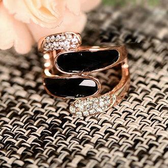 jewels ring rhinestones fashion jewelry girl