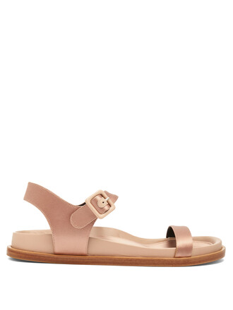 sandals satin light pink light pink shoes
