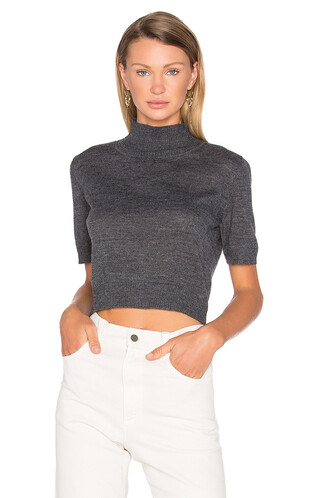 cropped tee cropped charcoal top