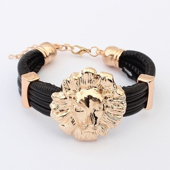 Min. order is $10(mix) leather lion bracelet fashion stretch statement bracelets for women 2013 jewelry wholesale-in Statement Jewelry from Jewelry on Aliexpress.com