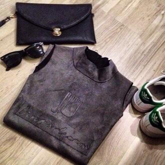 t-shirt grunge fashion style girly grey grunge t-shirt fashionista rayban
