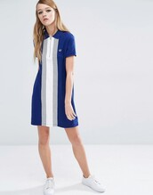 dress,asos,clothes,fred perry,mini dress,blue and white