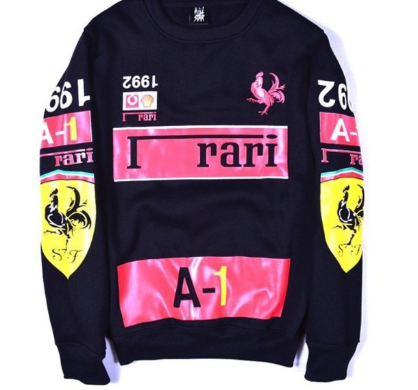 shirt fashion t-shirt ferrari sweater