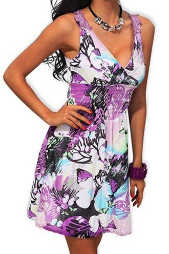 dress floral sexy cute girly purple print printed dress butterfly trendy stylish summer cool fashion fashionista style cute dress