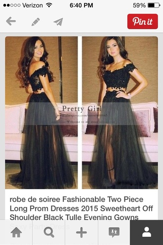 dress black two piece dress set lace dress