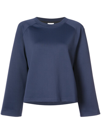 sweatshirt women spandex blue sweater