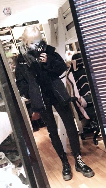 jacket black winter outfits fur milkgore winter jacket coat