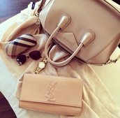 bag,wallet,sunglasses,givenchy,watch,jewels,cream bag,purse,givenchy bag,beige