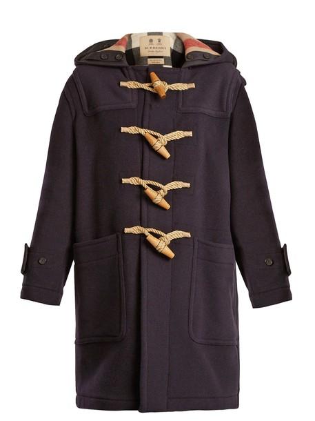 Burberry coat wool navy