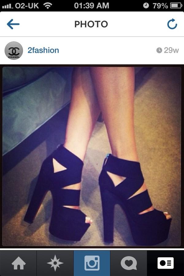 shoes black black high heels strapped strappy black heels high heels edgy fashion killa