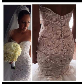 dress wedding dress pearls beaded wedding dresses beaded wedding dress