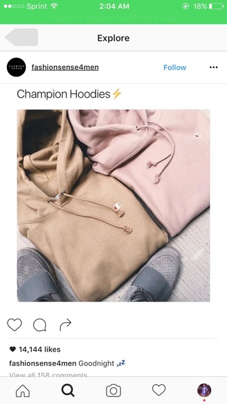 sweater champion nude pink