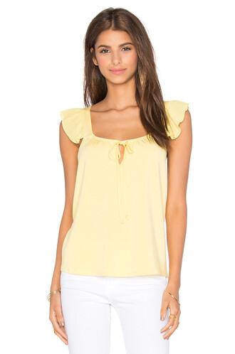 top sleeveless top sleeveless yellow