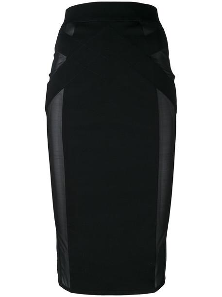 MURMUR skirt pencil skirt women spandex cotton black