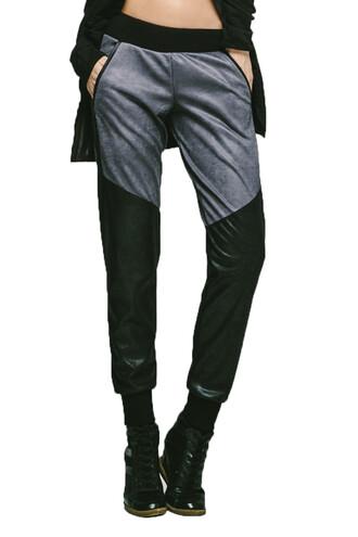pants active bottom black grey michi sweatpants bikiniluxe