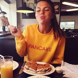 sweater food jenna page mustard