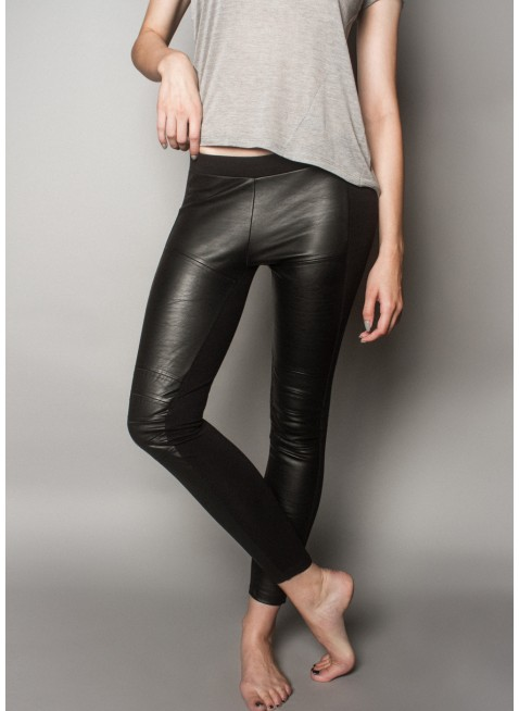 byLangley Duffy Faux Leather Legging / Best Fitting Legging / byLangley Contemporary Casual Loungewear