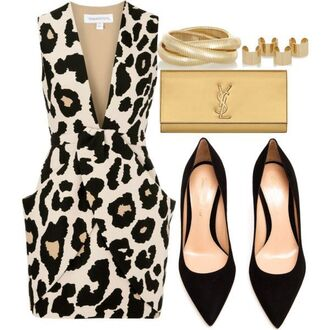 dress leopard print animal print
