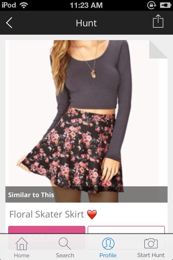 skirt floral skater skirt floral skater skirt sweater shirt blouse