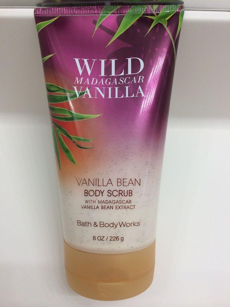 New bath body works wild madagascar vanilla bean body scrub 8 oz