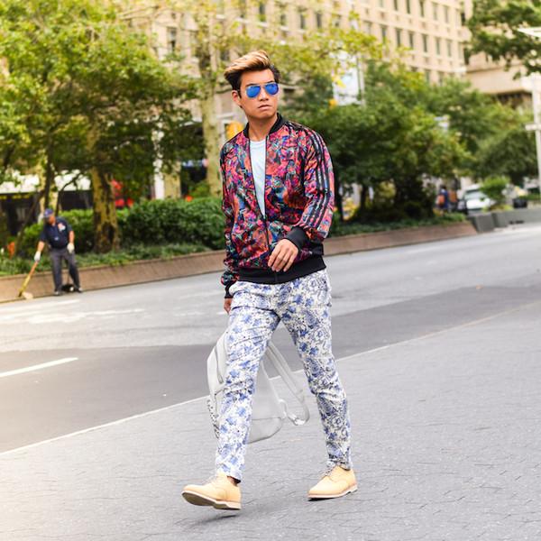 alexander liang blogger jacket t-shirt sunglasses jewels