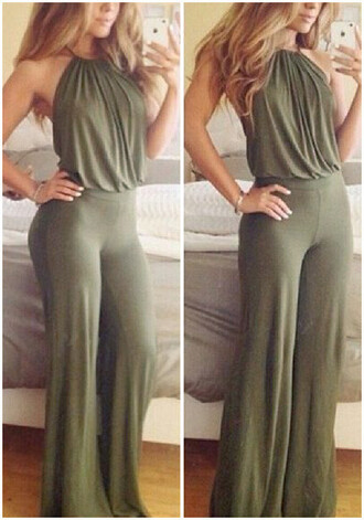 jumpsuit green army green