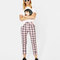 Plaid skinny fit trousers - new - bershka spain