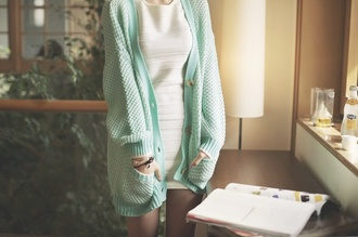 cardigan mint oversized cardigan