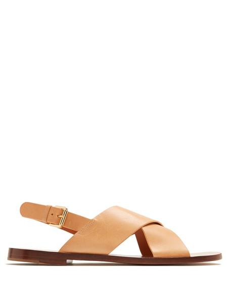 Mansur Gavriel sandals leather tan light shoes