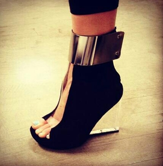 shoes clothes high heels wedges party shoes black shoes metallic shoes