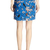 abaday | abaday Birds and Floral Print Pleated Blue Skirt, The Latest Street Fashion