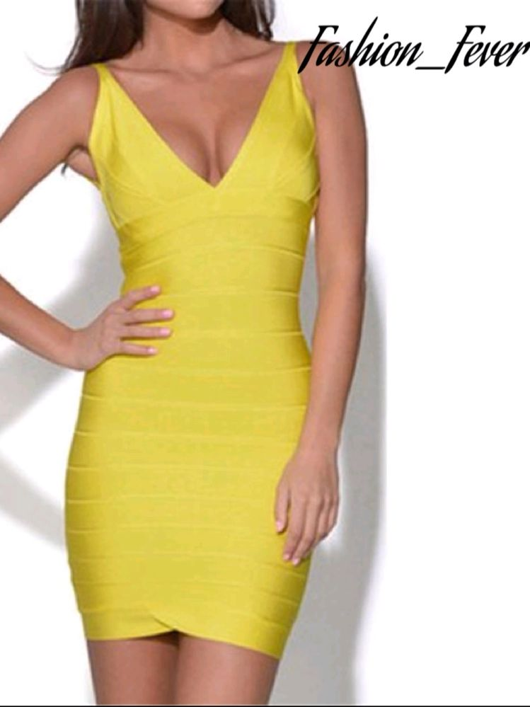 Women's Sexy Yellow Dress (Medium)