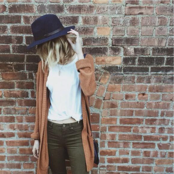 hat blogger obersized oversized coat style trend trendy oversized cardigan felt hat