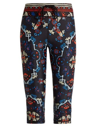 leggings folk cropped black pants