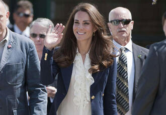 blue jacket kate middleton