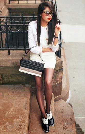 chicmuse blogger white jacket