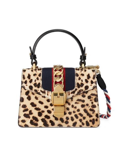 gucci mini hair metal women bag mini bag leather nude print leopard print
