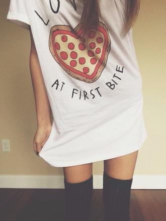 t-shirt pizza tshirt white tshirt tshirt dress blouse