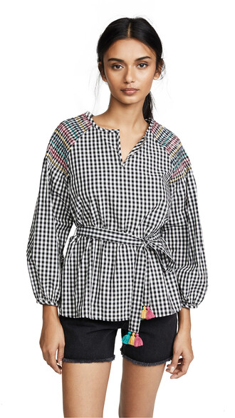 top gingham black