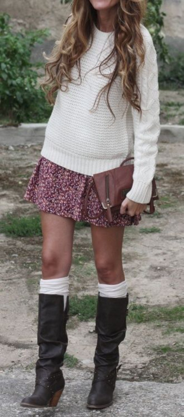 skirt shoes knee high socks wheretoget